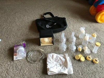 Medela Pump In Style Advanced Double Breast Pump Motor with Case & Accessories