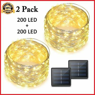 LED String Lights 72 Feet 200 Solar Powered Copper Wire Rope indoor outdoor DIY
