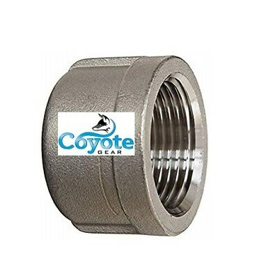 "3/4"" NPT Cap 304 Stainless Steel Pipe Thread Fitting Coyote Gear Class 150 #150"