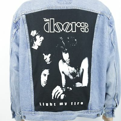 99935052c90 The Doors Jean Jacket Light My Fire Lee Blue Denim Trucker Morrison Mens  XLARGE