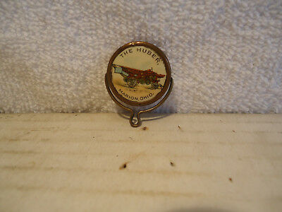 Rare The Huber steam engine Tractor advertising spinner celluloid Marion  Ohio