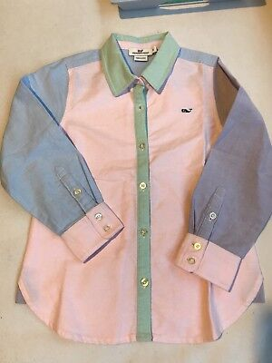 EUC Boys Vineyard Vines Whale Shirt Size 6 Color Block