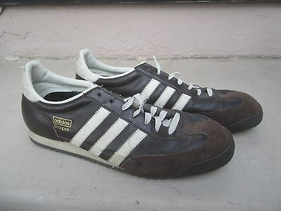 ADIDAS DRAGON BROWN Leather Shoes Sneakers Size 10 1/2 Us - $39.99 ...
