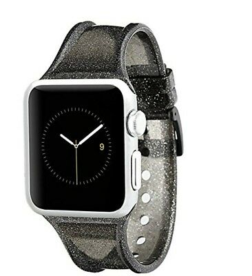 finest selection 3169c b5313 CASE-MATE APPLE WATCH Band - 38mm - SHEER GLAM - Series 3 Apple Watch Band  Noir