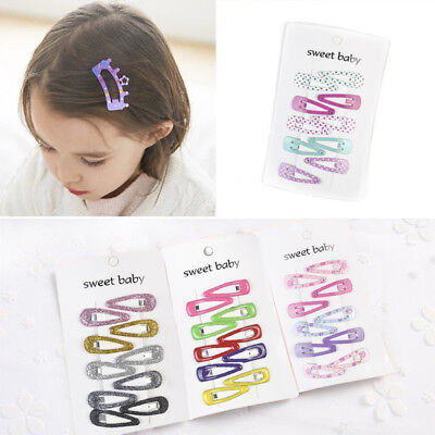 Lovely Kid Girl Hairpin Candy Color BB Snap Hair Clips Hair Accessori Gift New