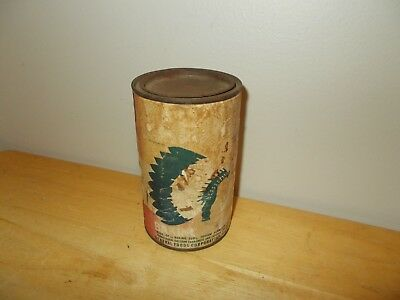 Vtg Paper Wrapped Calumet 1 Lb Container Baking Powder Can