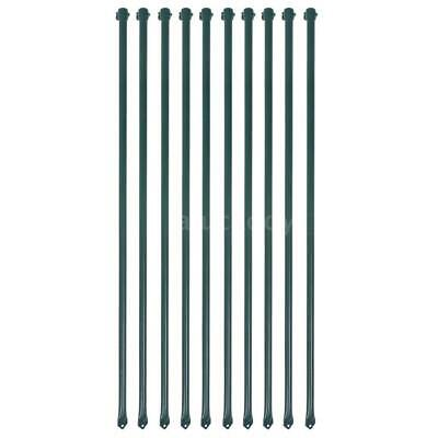10 X Garden Patio Fence Posts Fencing Plant Supports Spikes 1 M Metal Green R5j4