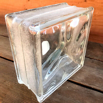 Corning Decora Glass Block - Clear Wavy Glass Block w/ Frosted Edges