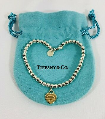 e8aabd1e4 Tiffany & Co Silver Return To 18k Rose Gold Heart Charm 7