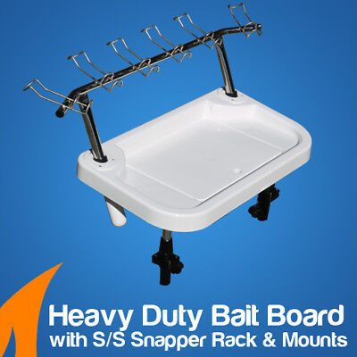 Heavy Duty Extra Large Bait Board with S/S Snapper Rack, sink with Lid, fishing