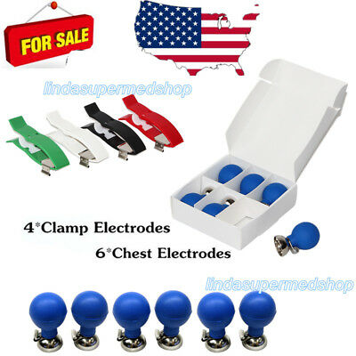 CONTEC Chest Suction Electrodes *6 and Clamp Electrodes *4 for Banana 4.0 ECG