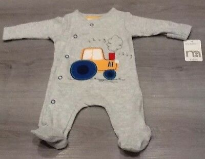 Mothercare Pack Of 3 Tiny Baby Boys  Sleepsuits  Up To 5 Lbs New With Tags