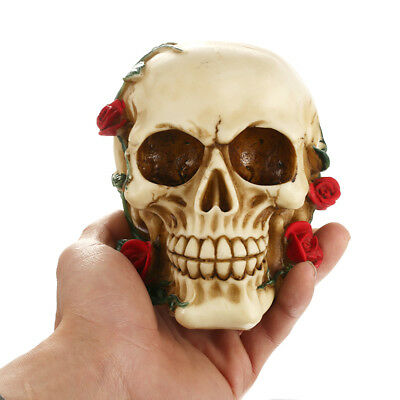 Human Rose Skull Replica Resin Model Anatomical Medical Life-size Skeleton Decor