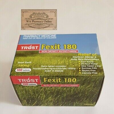 Trust Fexit 180mg Tablets 100 (SAME AS TELFAST 180MG) + FREE GIFT*