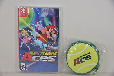 NEW NS Switch Mario Tennis Aces Ace (US Version) + Tennis Mini Pouch