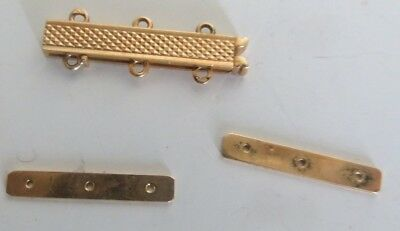 fermoir + 2 intercalaires or 18 K pour Bracelet 3 rangs