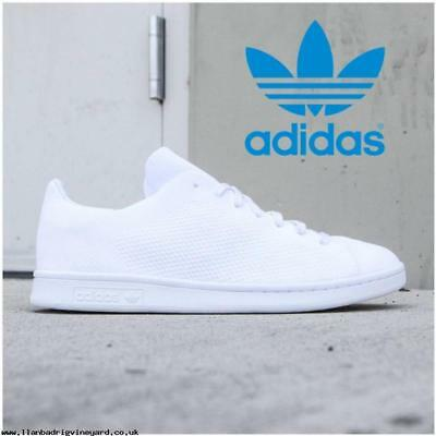 fbf2052fa4c9 adidas Originals Stan Smith Primeknit PK Men s Triple White sz 13 Shoes  BB3786