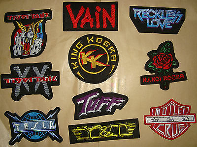 VAIN KING KOBRA HANOI ROCKS RECKLESS LOVE TIGERTAILZ Y&T LOGO Embroidered PATCH