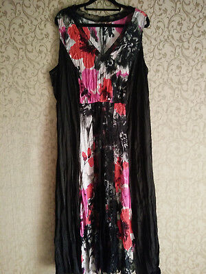 Maxi Dress - Size 18 - Lace panel pink themed