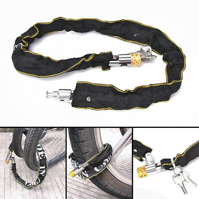 Heavy Duty Motorcycle Bicycle Bike Scooter Chain Pad Lock 2 keys High Security