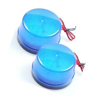 2 Lots Blue LED Flash Siren Security Light Alarm Strobe Warning Alert Lamp 12V