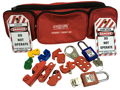 Krm Loto - Personal Lockout Tagout Pouch Kit - Red
