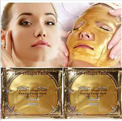 New Premium Collagen Crystal Face Masks Anti Ageing Skin Care Gold Moisturizing