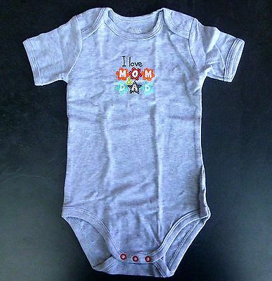 SALE ~ HEMA ~  Body ~ I love Mom & Dad ~ grau meliert ~ 86/92 ~ NEU