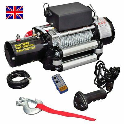 Electric winch 13000 Lbs 5909 kg 12V Vehicle Remote Control Material Handling