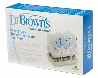 Dr Brown's Baby Bottle Drying Rack Fits Narrow and Wide Neck Bottles