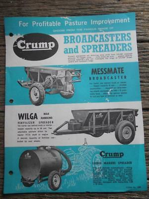 C 1950 's Crump broadcasters Spreaders tractor flyer farm agriculture farming