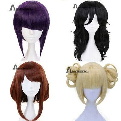 Anogol Himiko Toga Wig My Hero Academia Cosplay Wigs Short Blonde Synthetic Hair