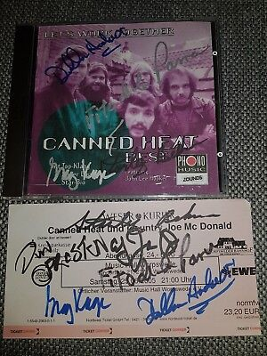 canned heat Autogramm auf cd cover best person rar signed autograph