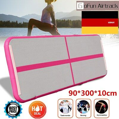 10ft*3ft GoFun Airtrack Air Tumbling Track Gymnastikmatte Yogamatte Rose matte