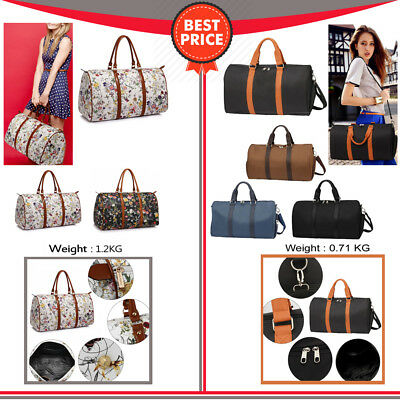 100c2cb2f21f Womens Weekend Duffle Bag Large Travel Bag Ladies Gym Shoulder Luggage Bag  New