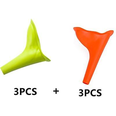 Urinal Funnel 3 Pcs Orange+3pcs Green Urination Device Stand Up Pee Piss Urine