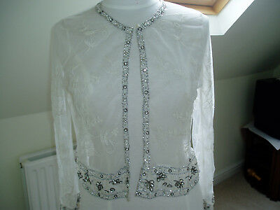 Juliet  Dunn Lace Cardigan/cover up . Beaded.