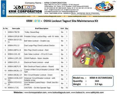 KRM LOTO - OSHA Lockout Tagout Site Maintenance Kit