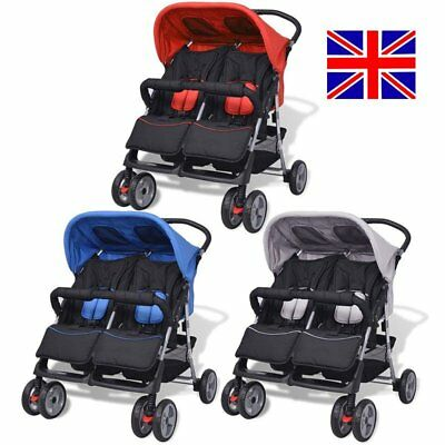 Baby Stroller Kids Twin Toddler Double Pram Pushchair Transport Buggy Foldable