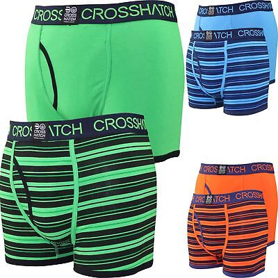 Mens Boxer Shorts Deckster 2 Gift Pack Set Underwear New Crosshatch Trunks 2018