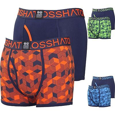 Mens Boxer Shorts Queboid 2 Gift Pack Set Underwear New Crosshatch Trunks 2018