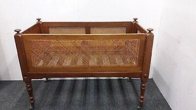 19th Century Child's Mahogany Framed Bergère Cot