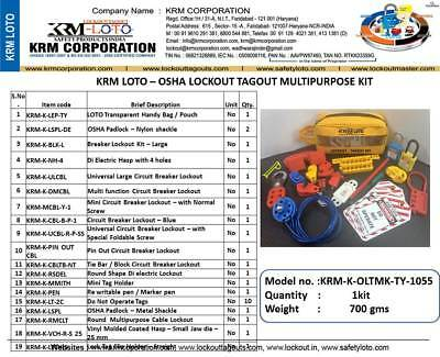 Krm Loto - Osha Lockout Tagout Multipurpose Kit