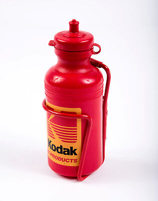 Kodak Products Sport Water Bottle w/Bracket Classic Red Yellow VTG Never Used
