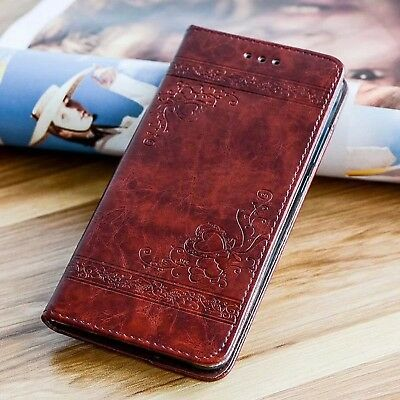 FOR HUAWEI P8 P9 Lite 2017 P10 TPU Leather Flower Cover Case FLIP WALLET CASE