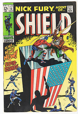 Nick Fury Agent of S.H.I.E.L.D. #13 FN/VF Marvel 1969 first Super Patriot Trimpe