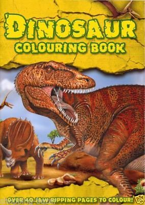 Dinosaur Colouring Book A4 Size For Children Kids Colour Activity Book Yellow