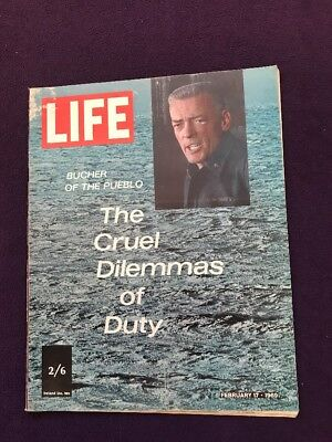 LIFE magazine Feb 17th 1969 BUCHER OF THE PUEBLO Elizabeth Taylor Bob Kennedy Jr