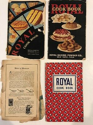 Lot of 4 Old Royal Baking Powder Recipe Booklets Cookbooks 1927 to 1940