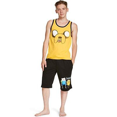 Cartoon Network Adventure Time Mens Tank and Shorts Pajamas (Teen/Adult)